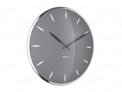 Designové nástěnné hodiny 5761GY Karlsson 40cm