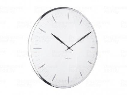 Designové nástěnné hodiny 5761WH Karlsson 40cm