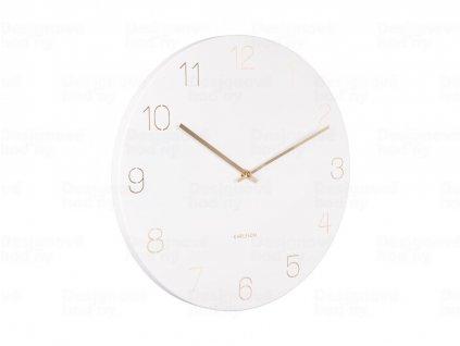 Designové nástěnné hodiny 5762WH Karlsson 40cm