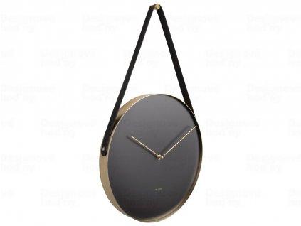Designové nástěnné hodiny 5767BK Karlsson 34cm