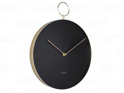Designové nástěnné hodiny 5765BK Karlsson 34cm