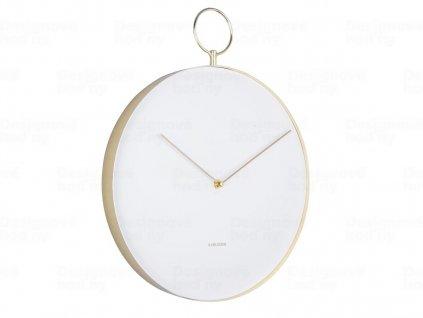 Designové nástěnné hodiny 5765WH Karlsson 34cm