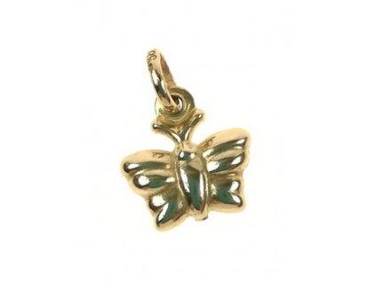 Přívěsek zlatý 1/30391 Motýlek