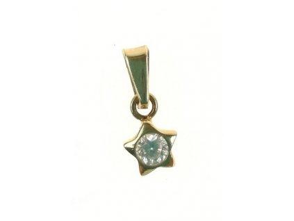 Přívěsek zlatý 13/61960 Hvězdička se zirkonem