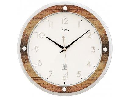 Designové nástěnné hodiny 5565 AMS řízené rádiovým signálem 31cm