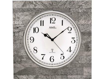 Designové nástěnné hodiny 5568 AMS řízené rádiovým signálem 50cm