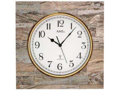 Designové nástěnné hodiny 5567 AMS řízené rádiovým signálem 50cm