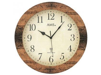 Designové nástěnné hodiny 5560 AMS řízené rádiovým signálem 35cm