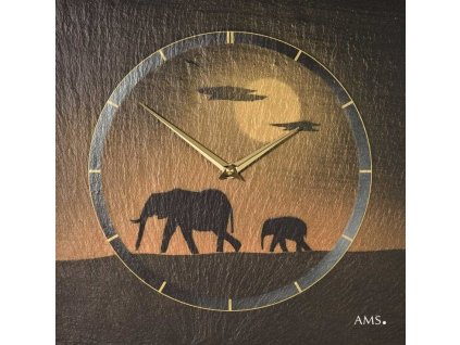 Designové nástěnné břidlicové hodiny 9523 AMS 30cm