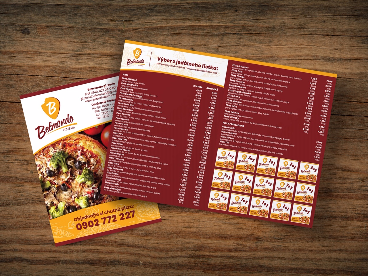 Pizzeria Belmondo a úprava akcie