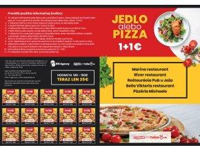 Zľavové kupóny do žilinských reštaurácií 1 + 1