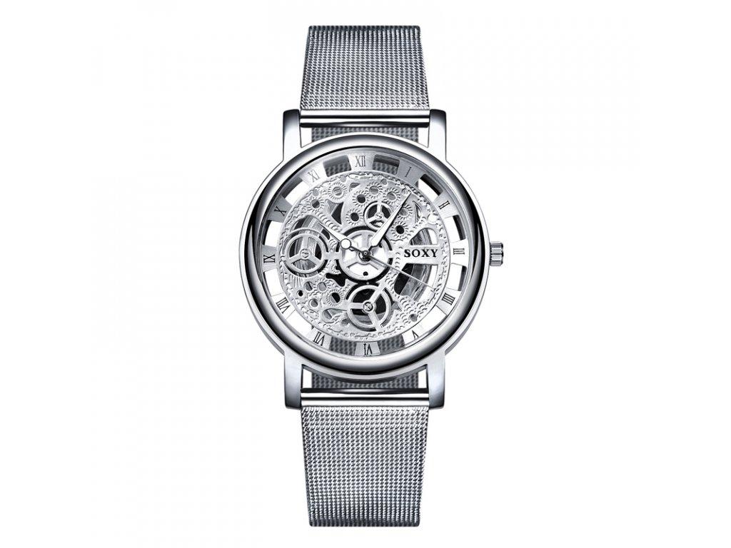 bd98fc99f258 2017 New Hot Sell Brand SOXY Silver Wrist Watch Simple Style Mesh Belt  Women Quartz Watches