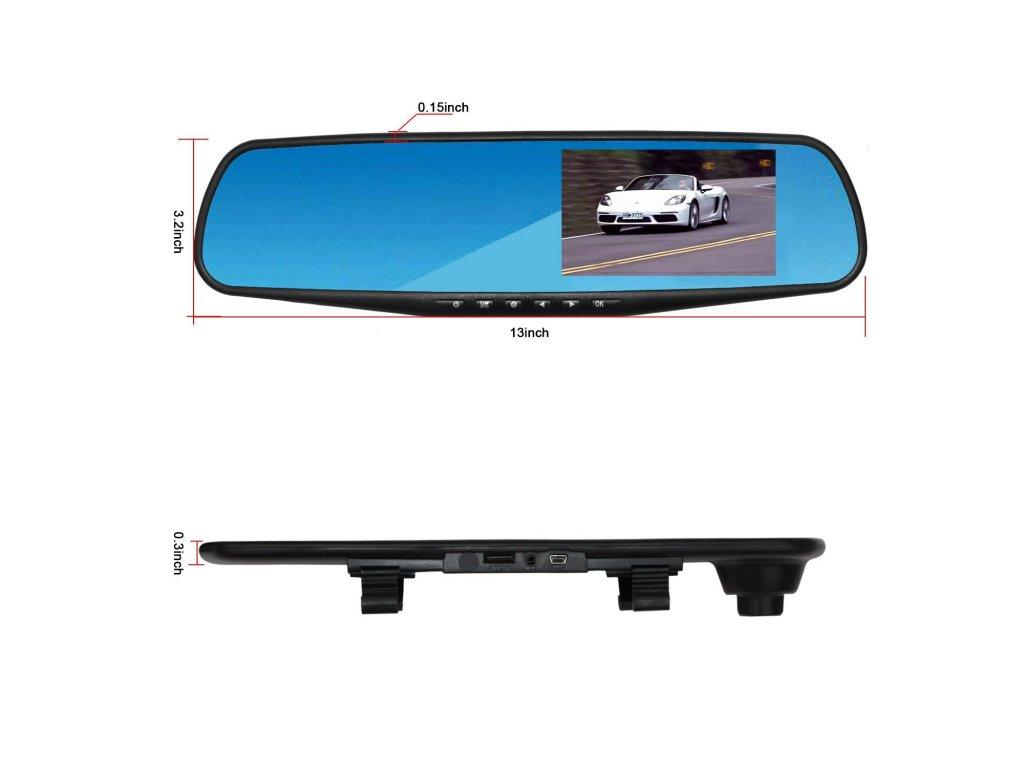 """Kvalitná kamera do auta v spätnom zrkadle so spätnou kamerou LCD 4,3"""" -  Zľavovýobchod.sk"""