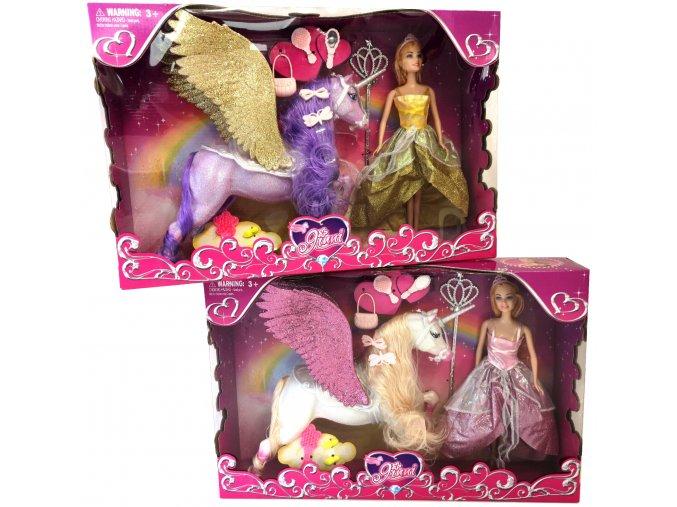 4782 2 panenka princezna s konem jednorozcem a doplnky