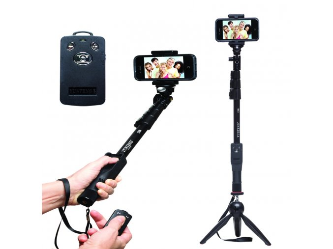selfie monopod extendable handheld pole with shutter yunteng yt 1288