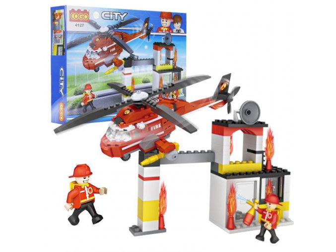 Interesting toy blocks for children compatible with Legoes fire engines helicopter models and children s toy