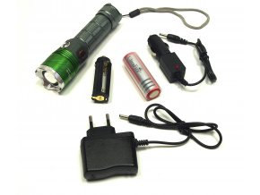 204 nabijeci uv led baterka s nabijeckou do auta adapterem kontrola bankovek
