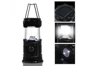 Collapsible 6 LED Solar Outdoor Rechargeable Camping Lantern