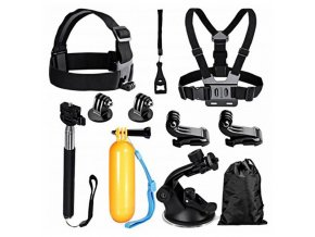 accesorios para camaras deportivas overnis 223550 8 pcs