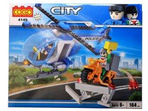 4947 stavebnice policejni vrtulnik a zlocinec 164ks
