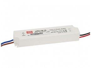 4302 18w elektronicky 12v zdroj venkovni ip67 meanwell lph 18 12
