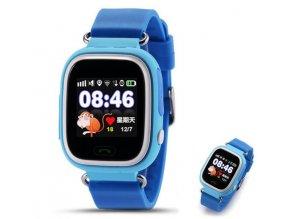 5604 7 detske chytre hodinky s sos a gps modra