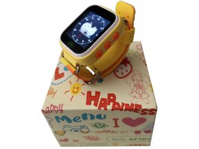 5259 1 detske dotykove hodinky 1 22 s gps lokatorem zluta