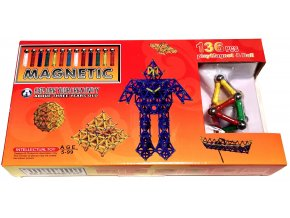 5697 magneticka stavebnice magnetic 136 dilu