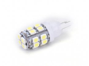 5100 set dvou led zarovek 5w do auta s patici t10 smd cip 30528 120lm svit bila led 2x t10 5 2835
