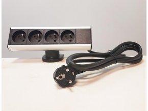 4482 zasuvkova skrin s uchytem na kraj stolu 4x zasuvky 230v 1 8m nap kabel orno ae 13102