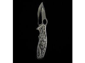 10420 zaviraci zdobeny celokovovy nuz wolf 21cm