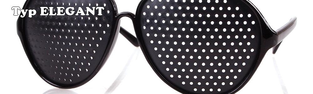 Děrované brýle pro zlepšení zraku typu ELEGANT