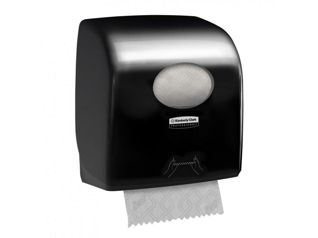 Kimberly Clark 7376 Aquarius dávkovač na ručníky v roli černý