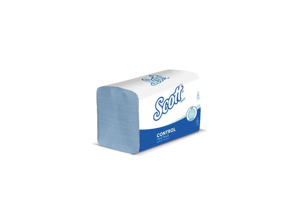 Kimberly-Clark Scott Xtra papírové ručníky složené modré střední, 6682