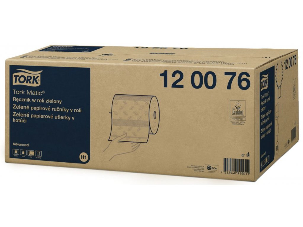 Tork Matic papírové ručníky v roli(zelená) 120076