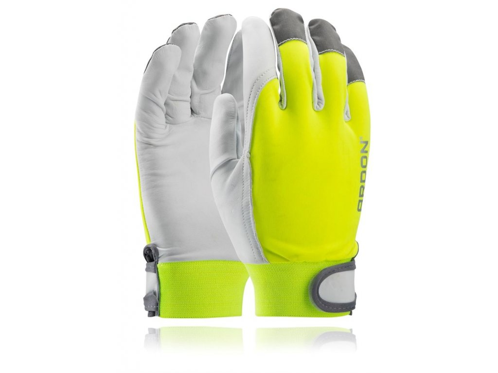 HOBBY rukavice reflexní kožené (Velikost 10)