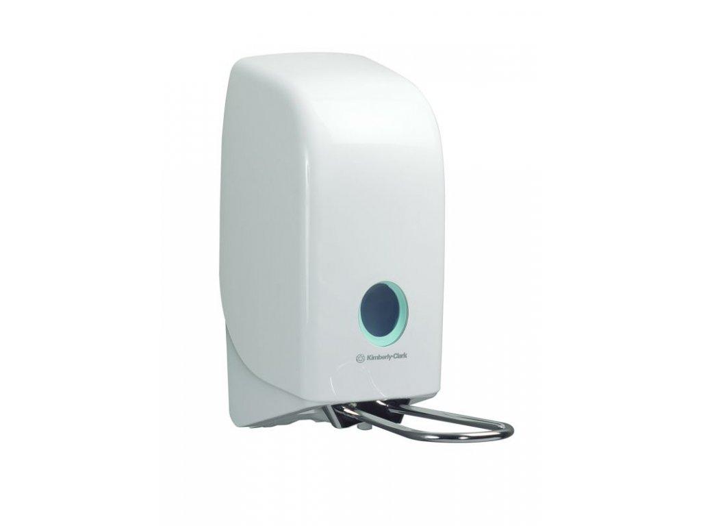 Kimberly-Clark Aquarius bílý dávkovač s páčkou, na 1L mýdla a dezinfekční prostředky, 6955