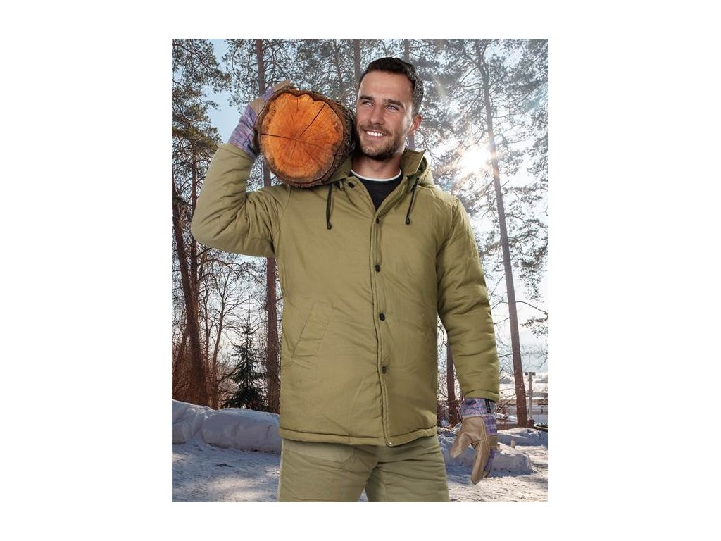 Vatovaný kabát NICOLAS tmavě zelený
