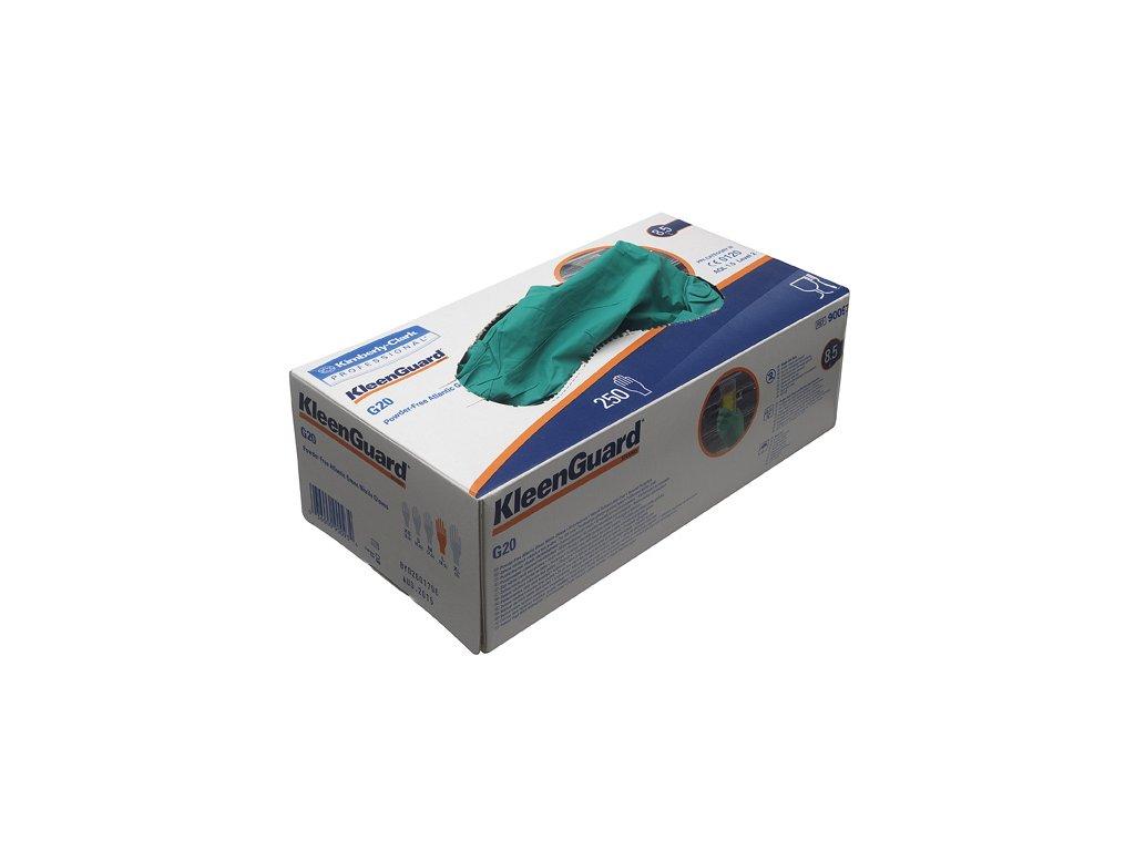 KLEENGUARD G 20 nitrilové jednorázové zelené rukavice 250ks/balení