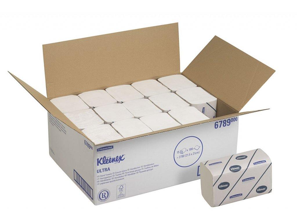 Kimberly-Clark Kleenex Ultra ručníky - malé, 6789
