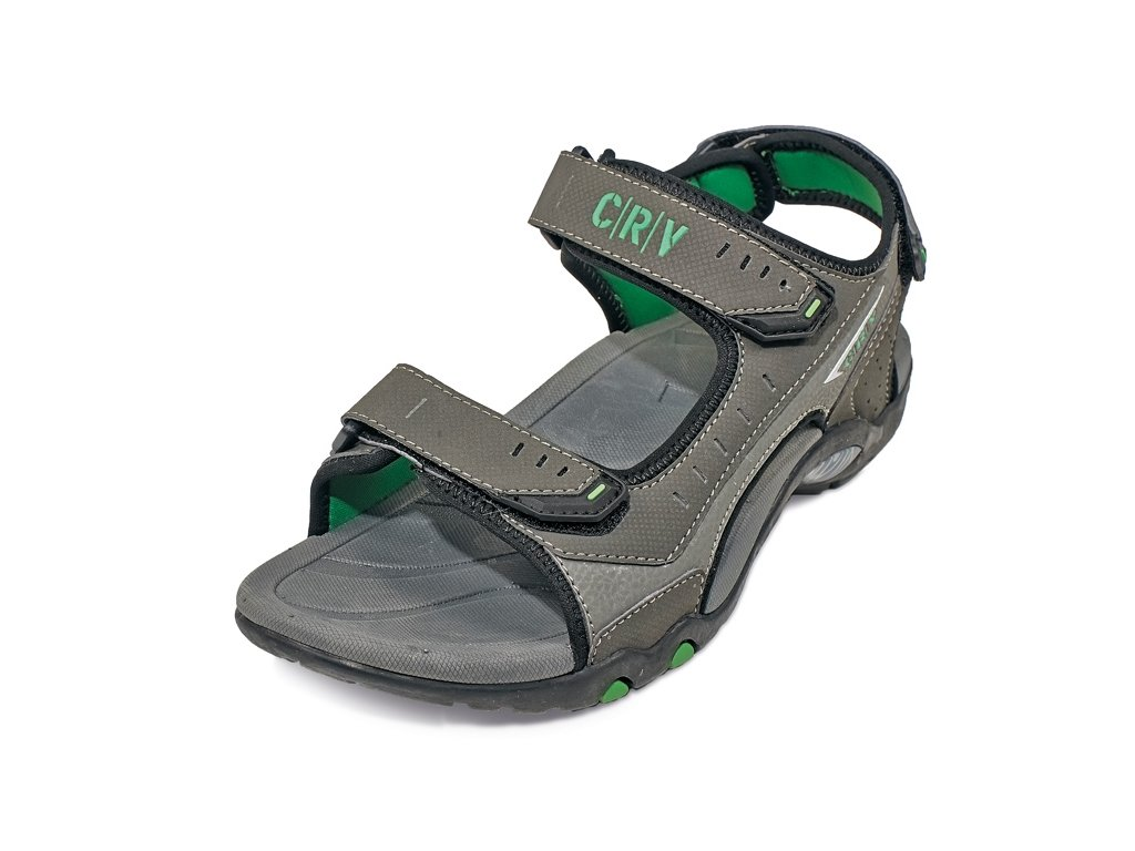 CERVA CROWAN sandále šedo-zelené