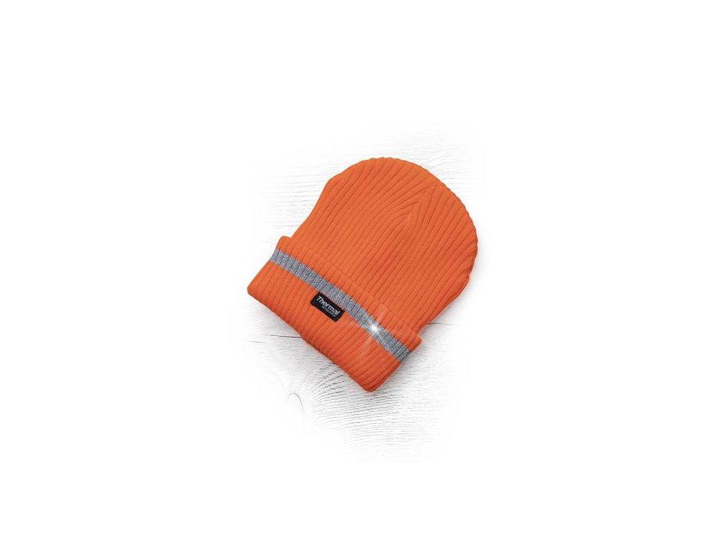 Zimní čepice pletená + fleece hi-viz SPARK oranžová - ŽLUTÝ OBCHOD 69c4243bf9