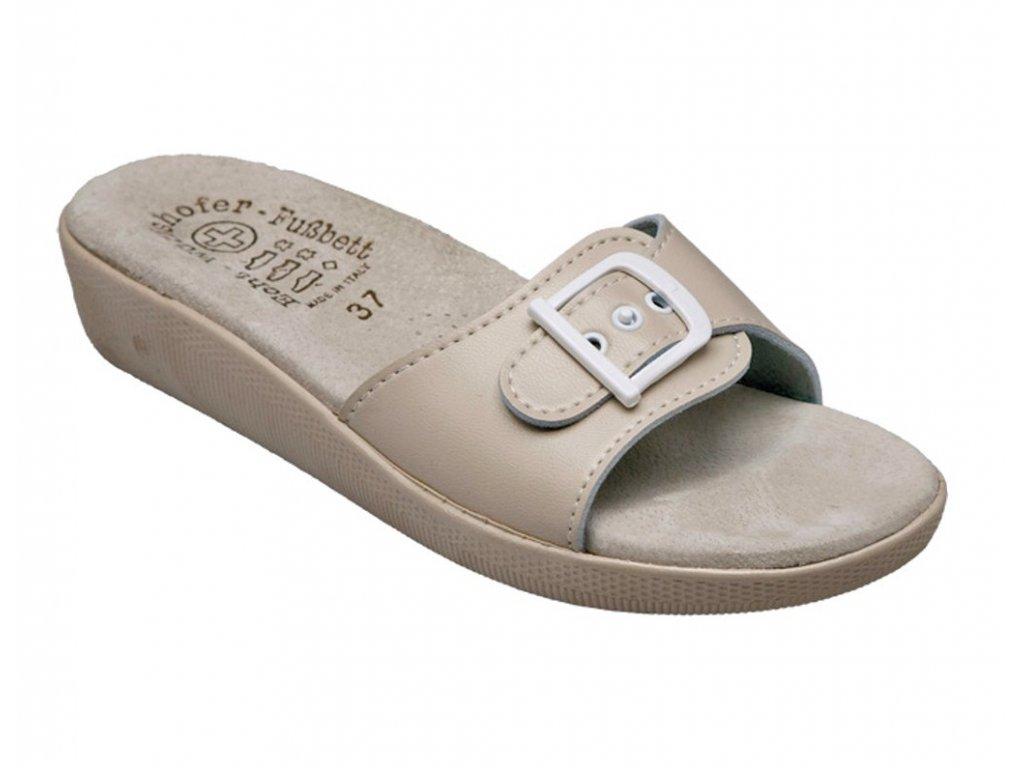 SI 03D Dámský pantofel Beige béžová