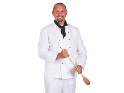0411 Rondon pánský dvouřadý bílý (Velikost 64)