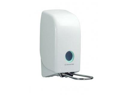 Kimberly Clark Aquarius bílý dávkovač s páčkou, na 1L mýdla a dezinfekční prostředky