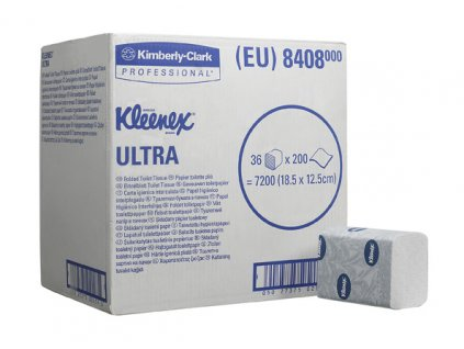 Kimberly-Clark Kleenex Ultra dvouvrstvý skládaný toaletní papír, 8408