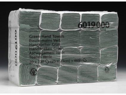 Kimberly Clark 6019 jednovrstvé zelené ručníky