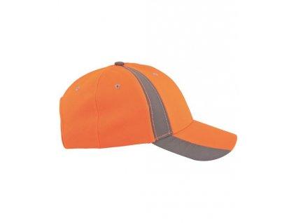 Kšiltovka hi-viz s reflex. pruhem TWINKLE oranžová