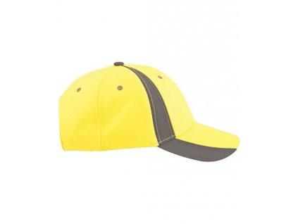 Kšiltovka hi-viz s reflex. pruhem TWINKLE žlutá