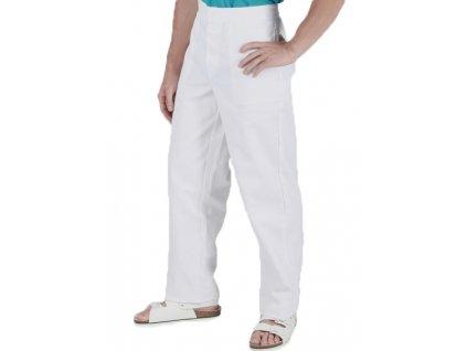 0460 Kalhoty pánské procovní bílé (Velikost 64)